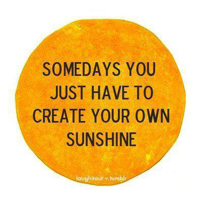some days you just have to create your own sunshineSQ